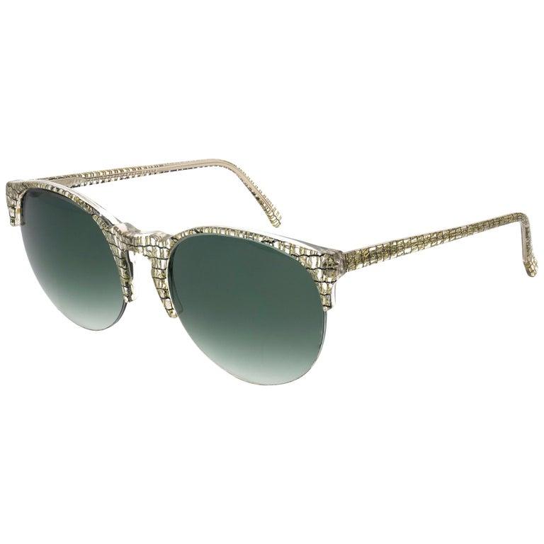Jean LaFont round vintage sunglasses, France 80s For Sale