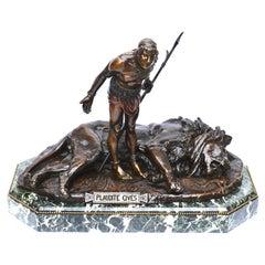 Jean Leon Gerome Plaudite Cives Bronze sculpture