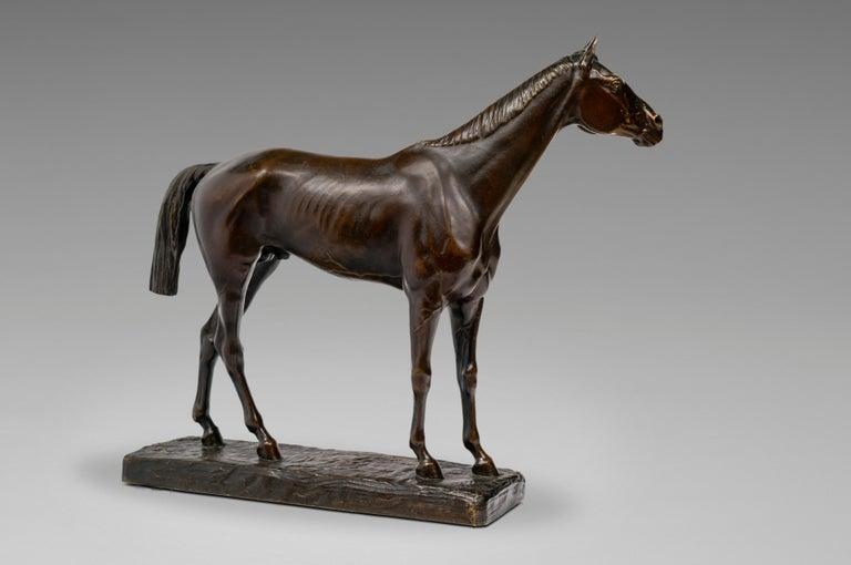 Cheval Pur-Sang - Sculpture by Jean-Léon Gérôme