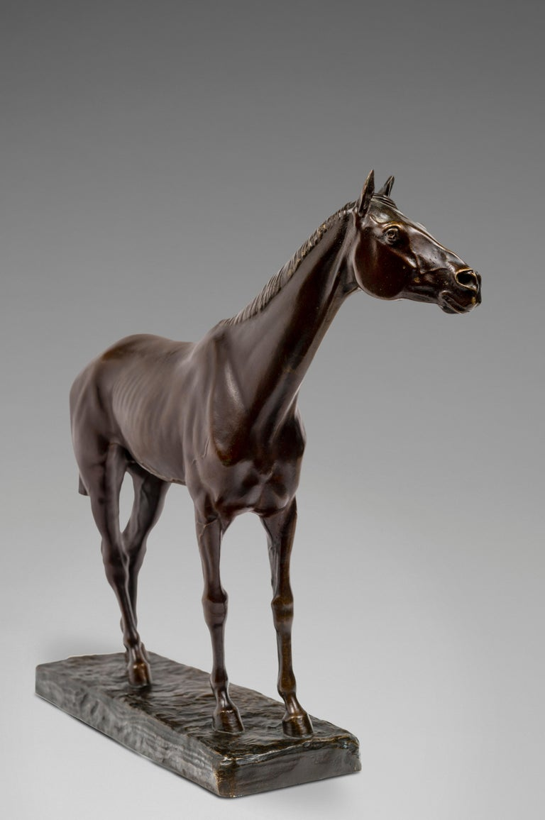 Cheval Pur-Sang - Naturalistic Sculpture by Jean-Léon Gérôme