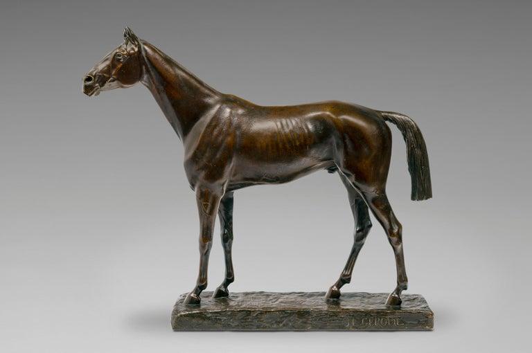 Jean-Léon Gérôme Figurative Sculpture - Cheval Pur-Sang