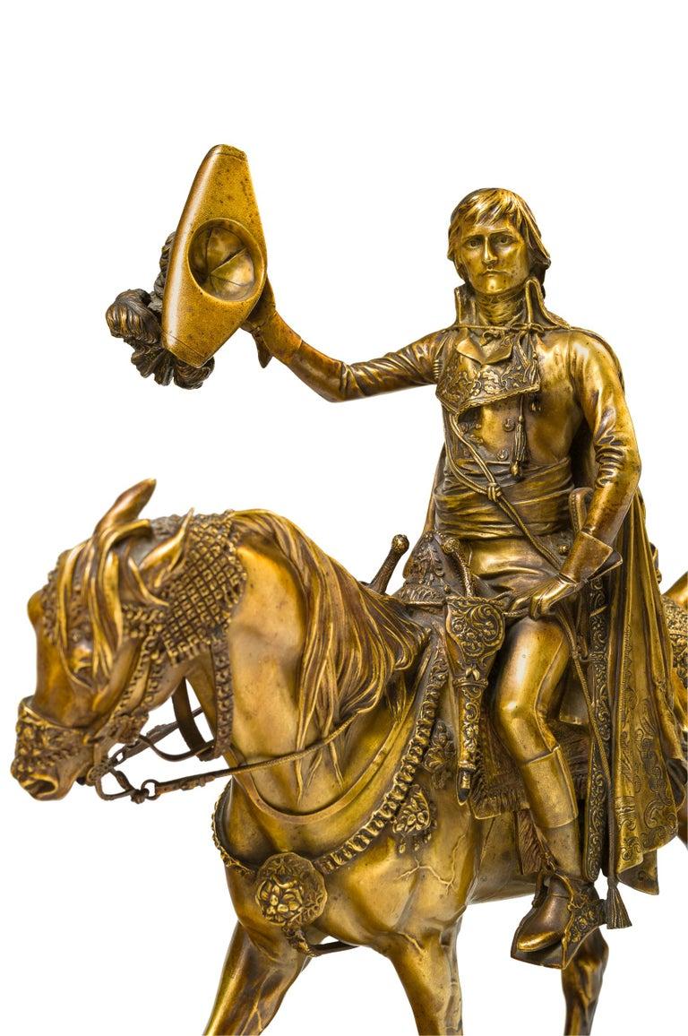 Entrance of General Bonaparte in Cairo, 1798 - Gold Figurative Sculpture by Jean-Léon Gérôme