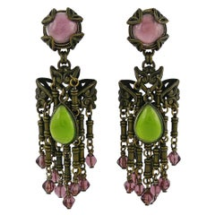 Jean Louis Blin Vintage Art Nouveau Inspired Dangling Earrings