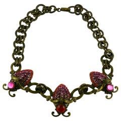 Jean Louis Blin Vintage Jewelled Ladybugs Necklace