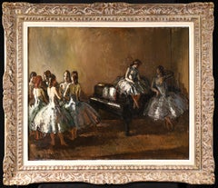 Les Danseurs - Post Impressionist Oil, Ballerinas in Interior by Jean Cosson