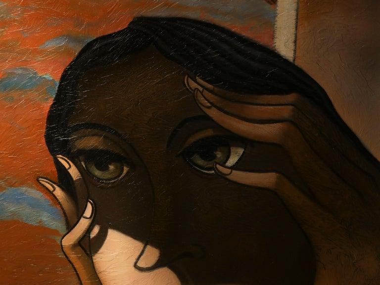 Essai Sur la Peinture - Painting by Jean Louis MENDRISSE