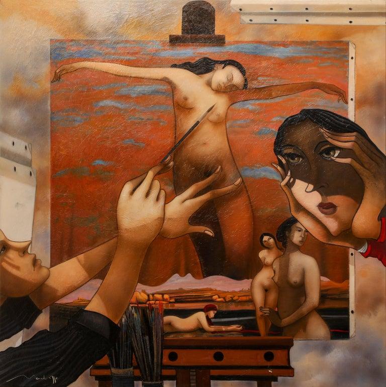 Jean Louis MENDRISSE Figurative Painting - Essai Sur la Peinture