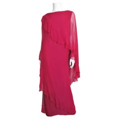 Jean Louis Silk Gown with Drape 1970s