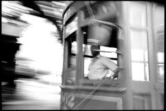 1999-New Orleans - Black & White Photograph of New Orleans Street Car Conductor