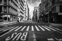 Covid 19 -2020-04-01-NY-Broadway Soho - Street Scene Black and White Photograph