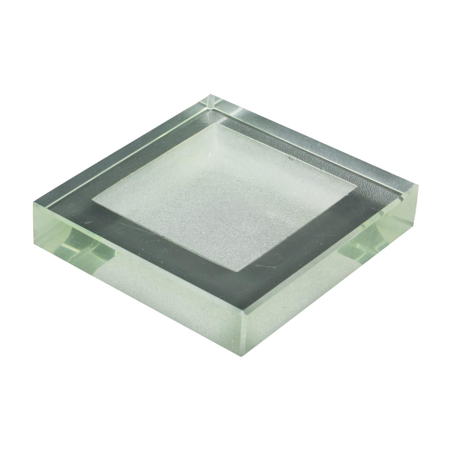 Jean Luce Art Deco Glass Ashtray Desk Tidy Catchall