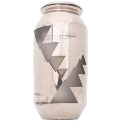 Jean Luce, Fine Art Deco Silver Glass Vase