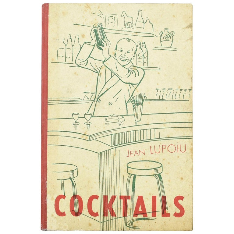 Jean Lupoiu Cocktail Recipes Book Rare 1948 Edition For Sale
