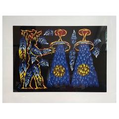 Jean Lurcat Aquarius Zodiac Tapestry Lithograph