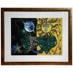 Jean Lurcat Gemini Zodiac Tapestry Lithograph