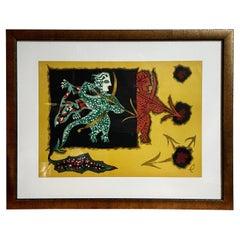 Jean Lurcat Sagittarius zodiac tapestry lithograph