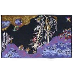 "Jean Lurçat Tapestry ""Eaux noires"" Woven by the Goubely Workshop, Signed"