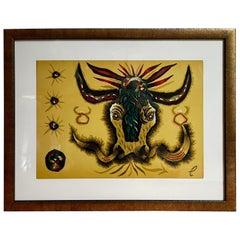 Jean Lurcat Zodiac Tapestry Lithograph