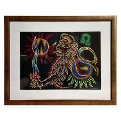 Jean Lurcat Zodiac Tapestry Lithograph, Leo