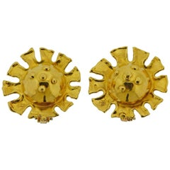 Jean Mahie 22 Karat Gold Earrings