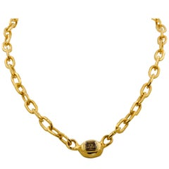 Jean Mahie 22 Karat Yellow gold Cadene Necklace