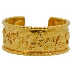 Jean Mahie 22 Karat Yellow Gold Charming Monsters Cuff