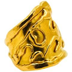 Jean Mahie 22 Karat Yellow Gold Ring