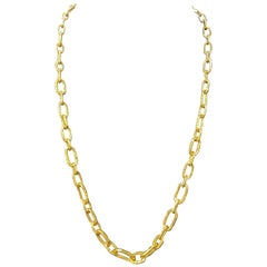 Jean Mahie Cadene Link Necklace in 22K Gold 107.2 Grams