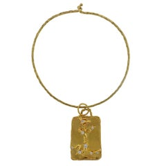 Jean Mahie Charming Creatures Gold Diamond Pendant on Necklace