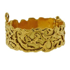 Jean Mahie Gold Abstract Bangle Bracelet