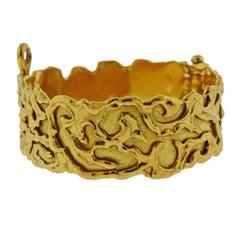 Jean Mahie Gold Abstract Bangle Bracelet