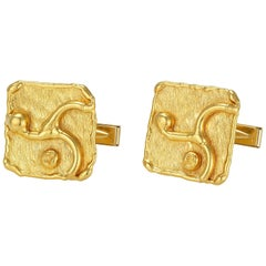 Jean Mahie Yellow Gold Cuff Links