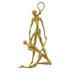 Jean Mahie Gold Large Pendant