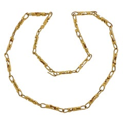 Jean Mahie Gold Long Necklace