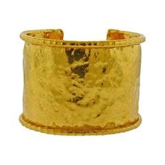 Jean Mahie Gold Wide Cuff Bracelet