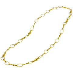 Jean Mahie Handmade 22 Karat Gold Necklace