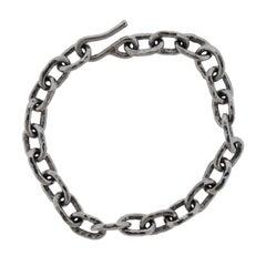 Jean Mahie Platinum Link Bracelet