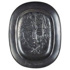 Jean Marais Black Enameled Ceramic Dish