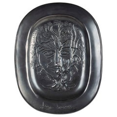 Jean Marais Black Enameled Ceramic Dish