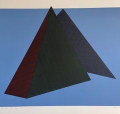 Jean Marie Haessle Abstract Geometric Op Art Silkscreen Lithograph Print