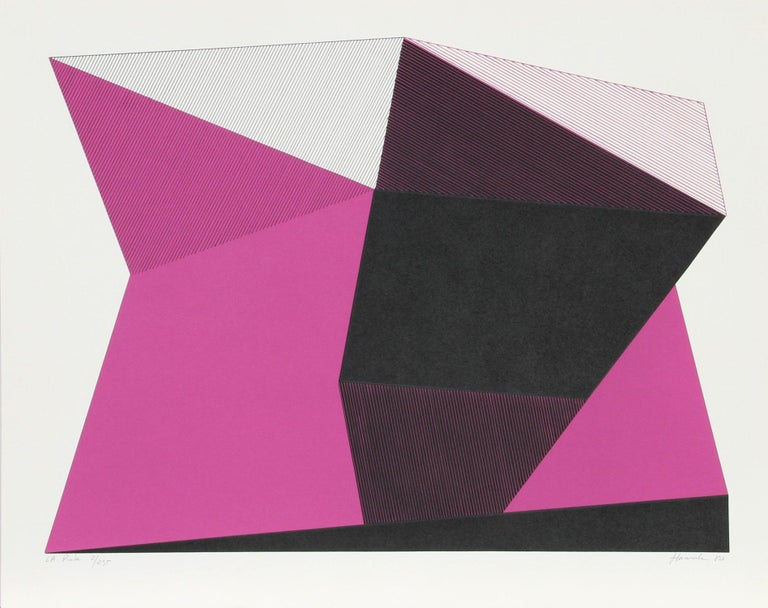 Jean-Marie Haessle Abstract Print - L.A. Pink