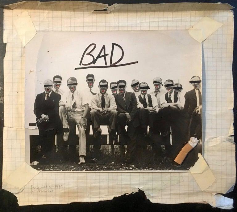 Basquiat (untitled) 'BAD'  - Pop Art Mixed Media Art by Jean-Michel Basquiat