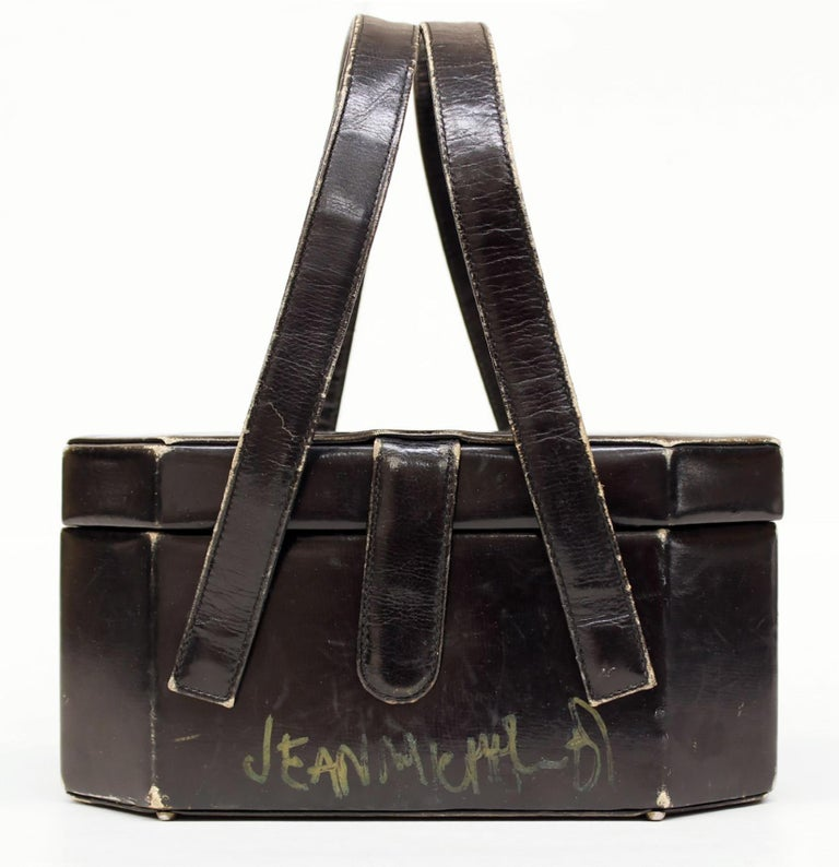 Jean-Michel Basquiat, Andy Warhol (untitled) 'Purse' 1984: With dollar signs drawn by Warhol and with crowns and