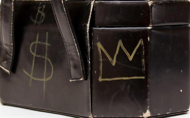 Basquiat & Warhol hand-illustrated 'Purse' 1984 (Warhol Basquiat)  - Painting by Jean-Michel Basquiat