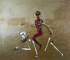 Riding with Death (1988), Lithograph, Jean-Michel Basquiat