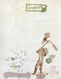 Basquiat Galerie Hans Meyer, Düsseldorf 1988 (1980s Basquiat exhibition poster)