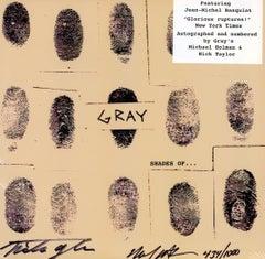 Basquiat Gray vinyl record signed (Basquiat Record Art)