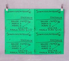 Basquiat Stockholm exhibition poster 1984 (Basquiat prints)