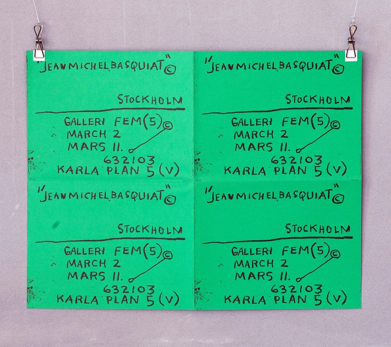 Jean-Michel Basquiat, Stockholm exhibition poster, 1984, offered by Lot 180