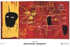 "Jean-Michel Basquiat-Florence-25.5"" x 35.75""-Poster-2002-Pop Art-Yellow, Red"